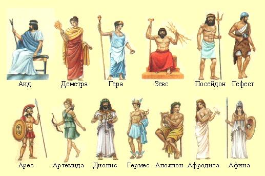 Древнегреческая мифология.